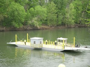 New ferry in the river with tug attached - Looking Good!