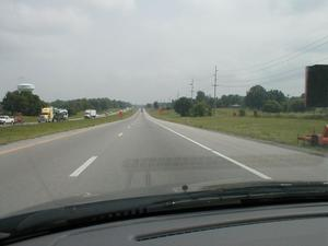 Heading north on I-65 around mile marker 25. (June 29, 2001)