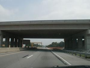 The new KY 234 overpass at what will become Exit 26. (June 29, 2001)