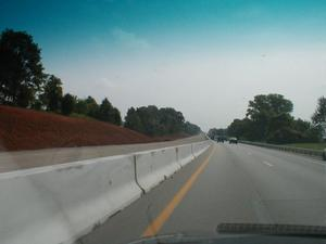 New lanes being added to I-65 north of Bowling Green. (June 29, 2001)