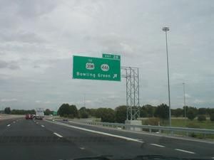 Signage for Exit 28 northbound on I-65. (August 15, 2002)