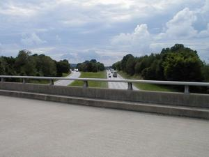 Looking south on I-65 from the [n:KY 259] overpass. (August 15, 2002)