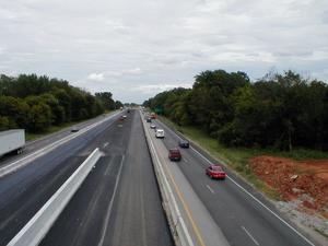 Looking north on I-65 from the Hays-Smith Grover Road overpass. (August 15, 2002)