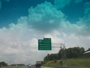 Signage for I-65 Exit 93. This is the Blue Grass Parkway exit in Hardin County.