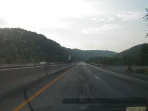 Work to widen the I-75 bridge over the Rockcastle River in Laurel and Rockcastle Counties. (July 5, 2003)