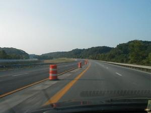 Work to widen I-75 in northern Rockcastle County. (July 5, 2003)