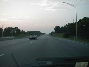 Six-lane section of I-75 north of Lexington. (July 5, 2003)