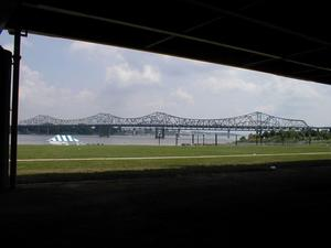 The I-65 John F. Kennedy Bridge over the Ohio River at Louisville viewed from Louisville's Waterfront Park