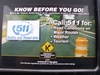 Gas pump sticker describing the 511 program.