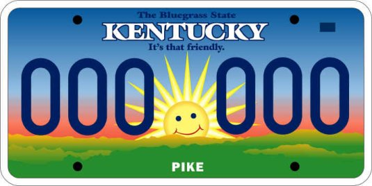 [New Kentucky License Plate]