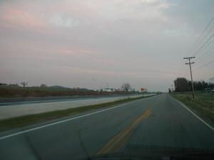 New section of KY 101 beside Old KY 101 in Edmonson County (November 18, 2001)