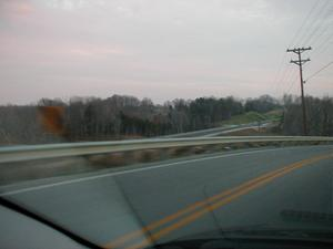 New KY 101 beneath Old KY 101 in Edmonson County (November 18, 2001)