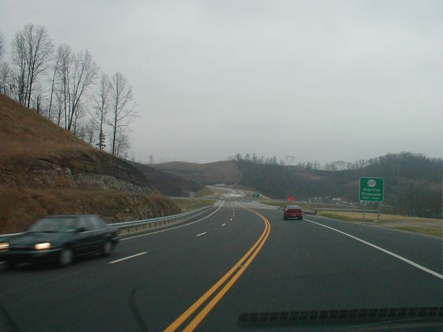 At this time, KY 67 ended at KY 207. The road had been graded north of the KY 207. (January 3, 2003)