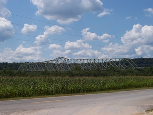 Matthew E. Welsh Bridge over the Ohio River viewed from Indiana (Aug. 15, 2004).