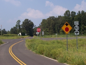 Newly constructed stretch of KY 80 in Calloway County (Sept. 5, 2005).