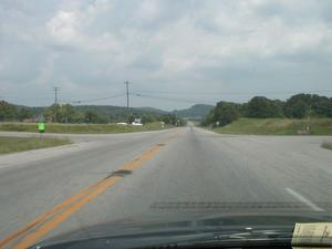 Typical section of KY 80 in Pulaski County east of KY 461. (July 6, 2003)