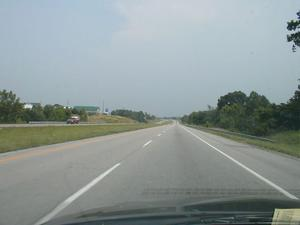A four-lane section of KY 80 in Laurel County (July 6, 2003)
