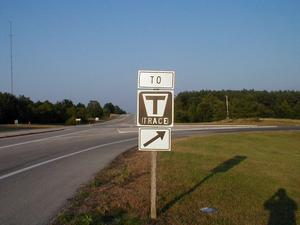 "The intersection between ""The Trace"" and US 68/KY 80."