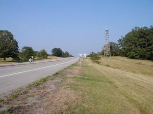 Looking east on US 68/KY 80 at The Trace.