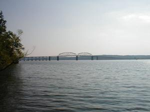 The Henry R. Lawrence Memorial Bridge carrying US 68/KY 80 over Lake Barkley.
