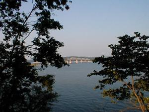 The US 68/KY 80 Eggner's Ferry Bridge over Kentucky Lake viewed from Kenlake State Park.