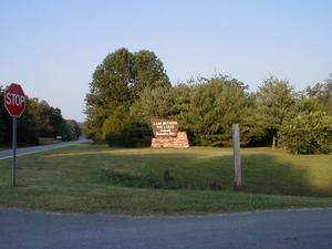 Western entrance to the Land Between the Lakes National Recreation Area on US 68/KY 80.