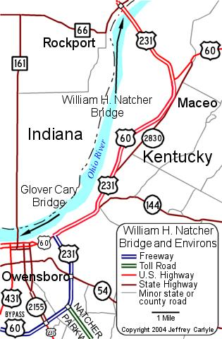 [William H. Natcher Bridge Location Map (2002)]