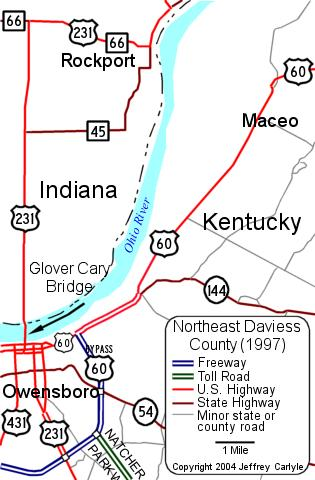 [William H. Natcher Bridge Location Map (1997)]