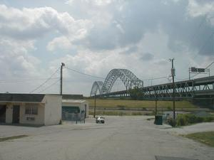 I-64 Sherman Minton Bridge viewed from New Albany, IN