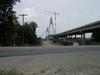 Taken near the IN 66/US 231 intersection. Here it can be seen there the deck of the bridge is not yet complete.