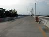 The deck of the bridge.