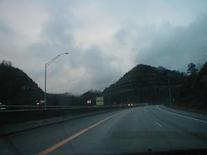 US 23 at the Pikeville Cut (January 3, 2003)