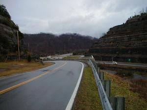 Above US 23 in the Pikeville Cut (January 3, 2003)