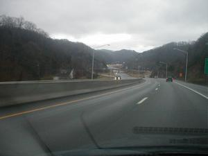 US 23 interchange with KY 80 in Floyd County (January 3, 2003)